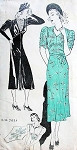 1930s New York Pattern 1031 Dress in 3 Styles Beautiful Details Removable Shaped Girdle