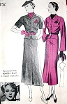 1930s New York Pattern 919 Art Deco Peplum Dress A Reproduced Design From Screen Play Movie Star Sally Eilers