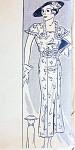 1930s BEAUTIFUL SLIM DECO DRESS PATTERN  FLATTERING CAPE COLLAR  ANNE ADAMS 1858