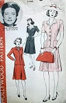 1940s HOLLYWOOD PATTERN 1143  PERKY SUIT FEATURES MOVIE STAR AGNES MOOREHEAD