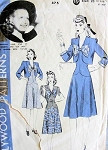 1940s  CUTE DRESS, BOLERO JACKET PATTERN HOLLYWOOD MOVIE STAR PRISCILLA LANE