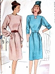 1940s KEYHOLE NECK DRESS PATTERN 2 NECKLINE STYLES McCALL PATTERNS 6320