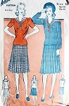 1940s  WAR TIME  SAILOR STYLE DRESS PATTERN WW II CUTE DESIGN ADVANCE 2638