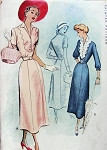 1940s BEAUTIFUL V Neckline Dress  McCALL 7646 Two Tone Bodice Version Day or Dinner Dress Bust 32 Vintage Sewing Pattern