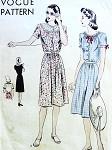 1940s PRETTY SUMMER DRESS PATTERN 2 BODICE STYLES VOGUE 9680