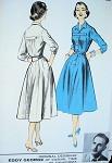 1950s DESIGNER DRESS PATTERN ADVANCE AMERICAN DESIGN EDDY GEORGE