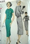 1950s  2 PC MIDDY DRESS PATTERN DETACHABLE COLLAR, BOW  SIMPLICITY 2410