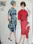 1960 FABIANI SLIM DRESS, SHORTIE JACKET PATTERN CLASSY STYLE VOGUE COUTURIER DESIGN 1006