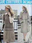 1970s VALENTINO COAT, TOP,SKIRT, PANTS PATTERN VOGUE COUTURIER DESIGN 2759