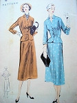 1950s FITTED SUIT PATTERN EASY TO MAKE VOGUE 7965