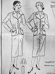 50s FITTED SUIT PATTERN BUTTERICK 5888