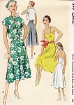 1950s Lovely Sun Dress and Jacket Pattern  McCall 8345 Around The Clock Dress and Bolero Daytime or Evening Cocktail  Sweetheart Neckline Low Back Bust 30 Vintage Sewing Pattern