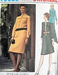 1970s UNGARO Dress Tunic Pants Pattern VOGUE PARIS ORIGINAL 2630 Bust 34 Vintage Sewing Pattern