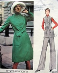 1970s UNGARO Dress or Tunic and Pants Pattern VOGUE PARIS ORIGINAL 2803 Semi Fitted A Line Dress Wide Flared Leg Pants Bust 36 Vintage Sewing Pattern FACTORY FOLDED + Label