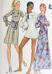 1970s  DRESS PATTERN MICRO MINI, REGULAR, MAXI LENGTH BUTTERICK 6196