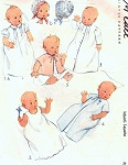 1940s Sweet Baby Infants Layette Pattern Adorable Gowns Robes Caps Bonnets McCall 4964 Vintage Sewing Pattern