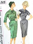 1960s Slim Mad Men Era Dress Pattern SIMPLICITY 3152 Vintage Sewing Pattern Bust 32 FACTORY FOLDED