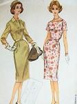 1960 SHEATH DRESS, SHORTIE JACKET PATTERN FIGURE SHOW OFF SLIM DESIGN, FITTED JACKET MAD MEN STYLEMcCALLS 5469