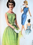 1960s BEAUTIFUL Cocktail Party Dress Pattern McCALLS 6276 Slim or Full Skirt Eye Catching Shirred Bodice Vintage Sewing Pattern Bust 34