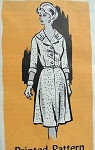 1960s STYLISH DRESS PATTERN NICE COLLAR STYLE FRONT BUTTON BODICE ANNE ADAMS 4970 Bust 41
