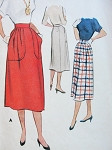 1950s Skirt Pattern McCall 8441 Large Pleated Pockets Easy To Wear Skirt Waist 24 Vintage Sewing Pattern