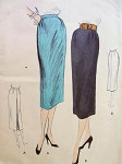 1950s SLIM SKIRT PATTERN 2 BACK VERSIONS, EASY TO MAKE VOGUE PATTERNS 7752