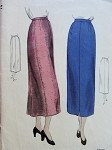 1940s SLIM STRAIGHT SKIRT PATTERN CLASSIC NARROW STYLE EASY TO MAKE VOGUE PATTERNS 6723