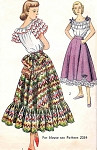 1940s Romantic Peasant Style Skirt Pattern Simplicity 2571 Flirty Boho Bohemian Design Vintage Sewing Pattern