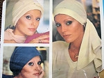 1970s Jean Muir Set of 3 Hats Pattern Vogue Couturier Design 1148 Vintage Sewing Pattern