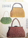 1960s Rare Smocked Handbags Purse Pattern McCalls 6750 Three Beautiful Day or Evening Smock Styles Vintage Sewing Pattern  FACTORY FOLDED
