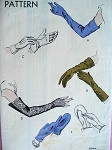 1940s GLOVES, MITTS, MITTENS  PATTERN ELEGANT LONG EVENING!
