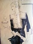 ART DECO 1930s COLLAR and CUFFS PATTERN VOGUE PATTERN