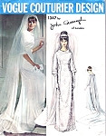 1960s Wedding Dress Bridal Gown Pattern Vogue Couturier Design 1347 John Cavanagh  Of London Elegant Empire Dress  Bust 32 Vintage Sewing Pattern FACTORY FOLDED