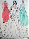 1950s Lovely Classic Fifites Wedding Gown Bridal Dress Pattern Butterick 5627 Vintage Sewing Pattern
