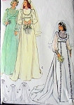 1970s EMPIRE WAIST  BRIDAL GOWN WEDDING DRESS PATTERN