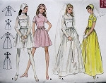 1960s  BRIDAL DRESS WEDDING GOWN PATTERN BUTTERICK 5659