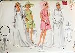 1960s MOD WEDDING BRIDAL GOWN DRESS PATTERN VEIL, HOOD BUTTERICK 5131