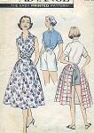 1950s WEEKEND WARDROBE BEACH PATTERN SHIRT, SHORTS, WRAP SKIRT ADVANCE 8610