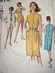 1960S  Beach Wear Pattern Swimsuit Bathing Suit , Beach Cover Up Coat, Slim  Front Button Dress Perfect Resort Weekend Wear  Simplicity 4976 Vintage Sewing Pattern Bust 32
