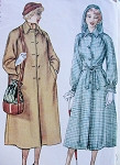1940s  RAGLAN SLEEVED COAT, HOODED RAINCOAT PATTERN LOOSE or BELTED  SIMPLICITY 2998