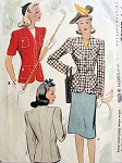 1940s FITTED JACKET BLAZERS PATTERN WWII WAR TIME CLASSIC STYLES McCALL 4231