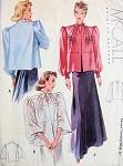 1930s EVENING JACKET WRAP PATTERN 2 BEAUTIFUL SLEEVE VERSIONS McCALL PATTERNS 3160
