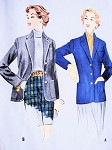 1950s  STYLISH  Blazer Suit Jacket Pattern McCALLS 9905 Preppy Classic Design Vintage Sewing Pattern