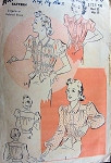 1930s LOVELY LINGERIE or TAILORED BLOUSE PATTERN 2 STYLES ADVANCE 2440