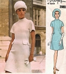 60s  MOD Dress Pattern VOGUE COUTURIER DESIGN 2089 PERTEGAZ Bust 31.5 Vintage Sewing Pattern