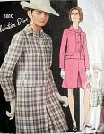 60s Mod DIOR 3 Pc Suit Pattern VOGUE PARIS ORIGINAL 1810  Bust 32 Vintage Sewing Pattern
