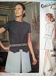 MOD Drop Waist Dress Pattern Vogue Couturier Design 2243 GALITZINE Vintage Sewing Pattern
