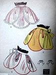 1950s QUICK n EASY HOSTESS APRON PATTERN 3 SNAPPY STYLES BUTTERICK 6743