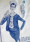 1960s  3 PC SUIT PATTERN  VERY STYLISH  MODES ROYALE  2081
