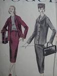 1950s SHORT BOX JACKET SUIT PATTERN VOGUE 8967